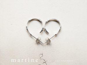 MARTINE SV925 シルバー バンブーピアス(M045)