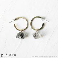 新作ギリコのアトリエアクセサリー。水晶やオニキス、タールインクォーツのピアスなどを公開しました。